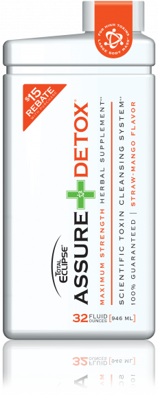 Total Eclipse Assure Detox 32oz. Drink - Strawberry-Mango Flavor