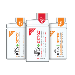 Rely Detox comes in Grape, Orange and Tropical flavors