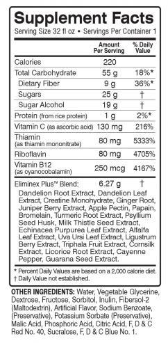 Total Eclipse Assure Detox 32oz. Drink Ingredients
