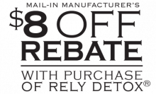 $8 Mail-In Rebate with purchase of Rely Detox